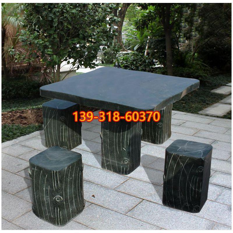 方形石桌雕塑