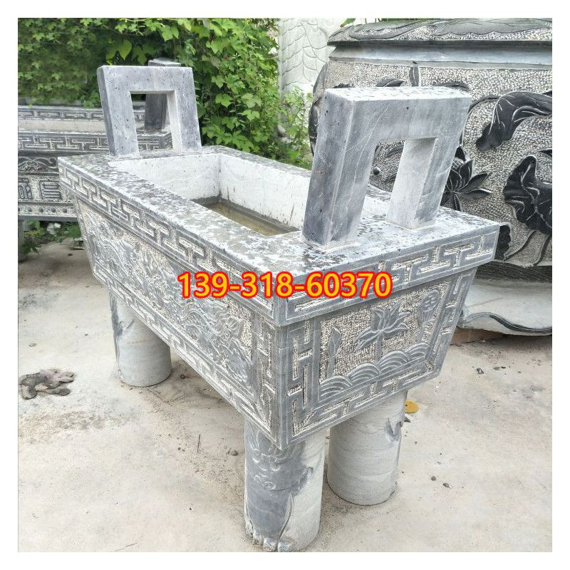 方口香炉石雕(1)