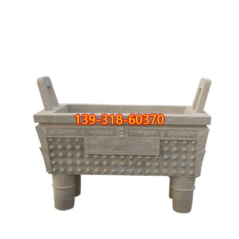 方口香炉石雕(7)