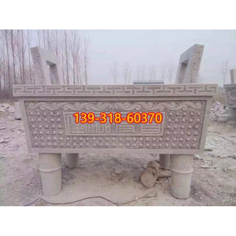 方口香炉石雕(6)