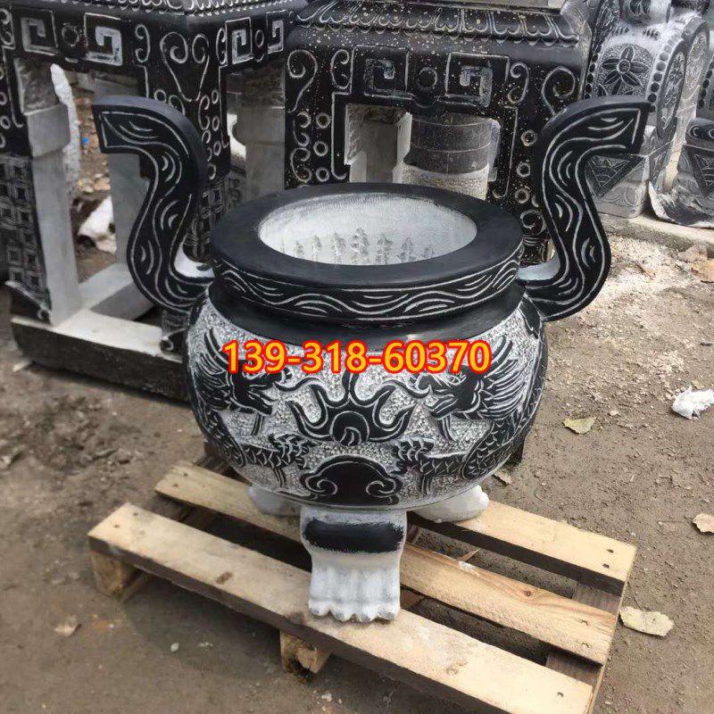 圆口香炉石雕(3)