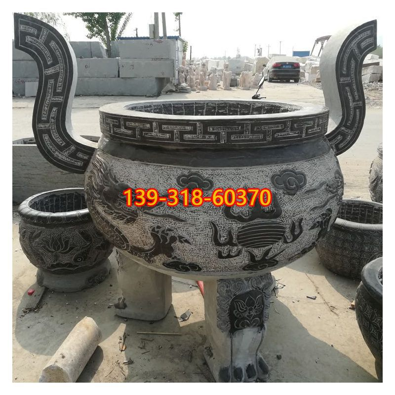 圆口香炉石雕(4)