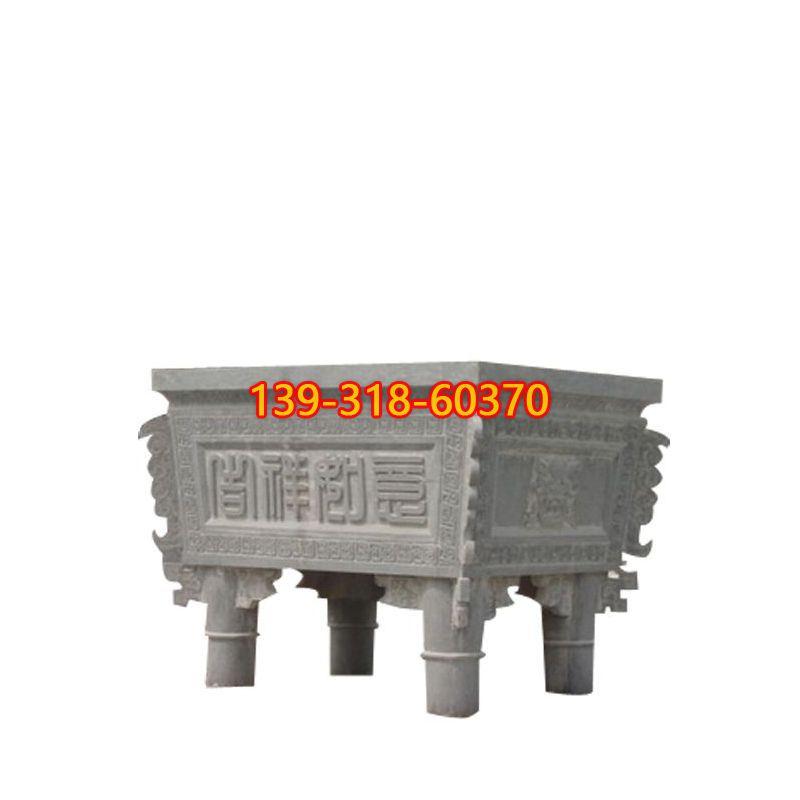 青石香炉雕塑(1)