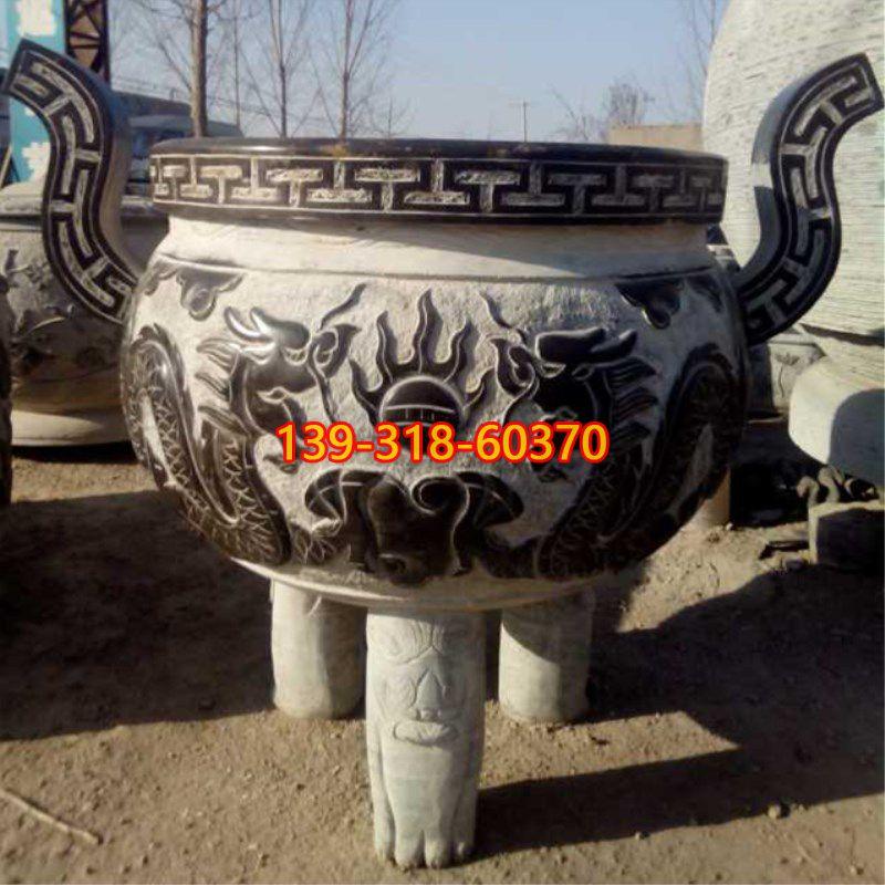青石香炉雕塑(4)