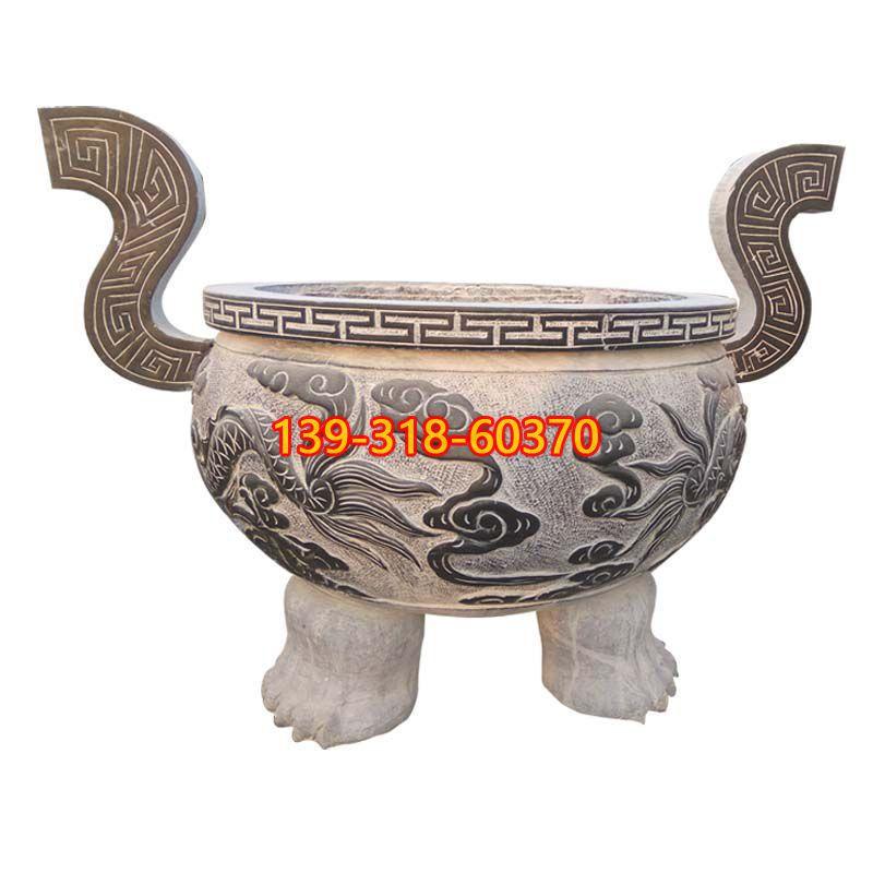 青石香炉雕塑(6)