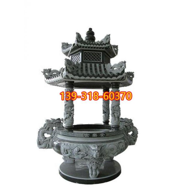 青石香炉雕塑(7)