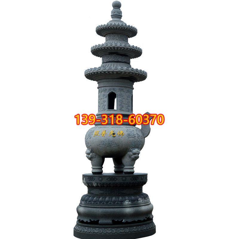 青石香炉雕塑(8)