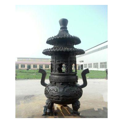 寺庙香炉铜雕