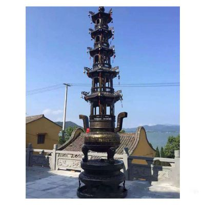 大型多层香炉铜雕