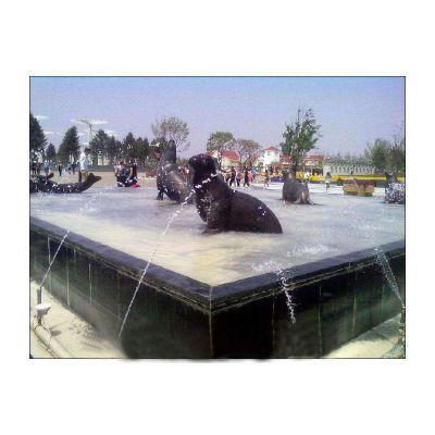 海豹喷泉铜雕