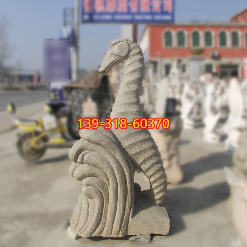大理石喷水海马石雕(2)