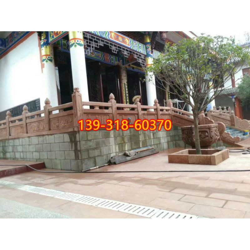 梅兰竹菊浮雕栏杆(1)