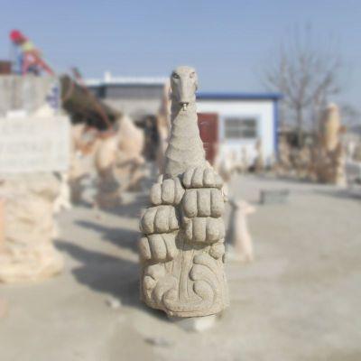 大理石喷水海马石雕