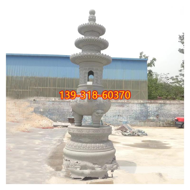 寺庙香炉石雕(1)