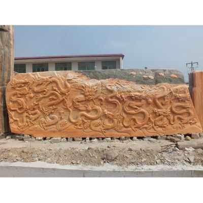 九龙浮雕景观石